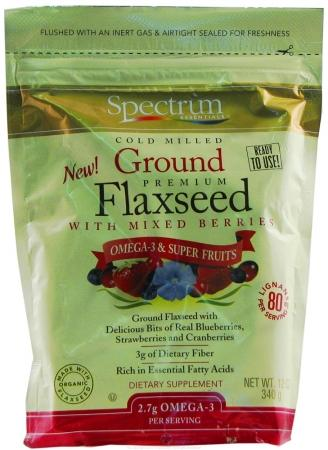 Ground Flaxseed Organic with Mixed Berries Health & Wellness/Healthy Fats/Flax Seed Oil Spectrum Organics (Spectrum Essentials)  (10031808067)