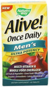 Alive Once Daily Mens Ultra Potency Supplements Natures Way