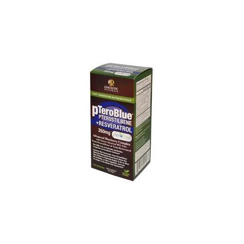 pTeroBlue Pterostilbene + Resveratrol 350mg Supplements Genceutic Naturals  (10030974403)