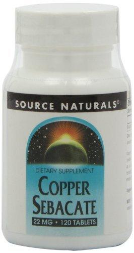 Copper Sebacate 22 mg Supplements Source Naturals  (10031779459)
