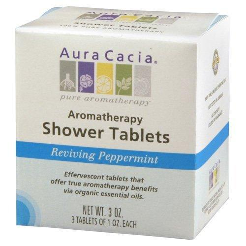 Reviving Peppermint Shower Tablets Health & Wellness Aura Cacia  (10030562435)