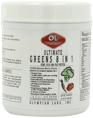 Ultimate Greens Protein 8 in 1 with Hemp Protein Health & Wellness/Greens Olympian Labs  (10030400259)