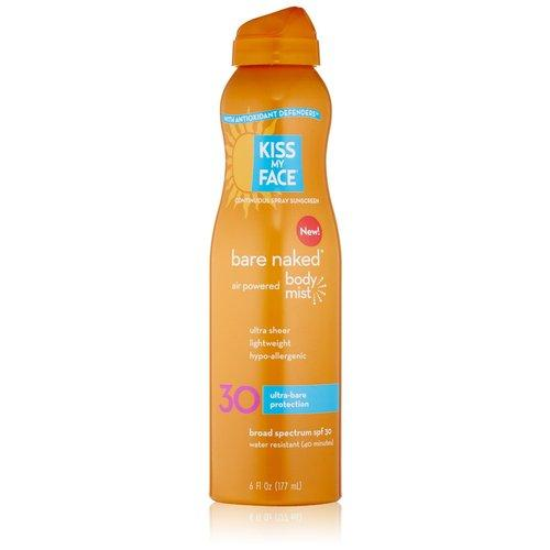 Bare Naked With Air Powered Spray Body Mist SPF 30 Supplements Kiss My Face  (10031195395)