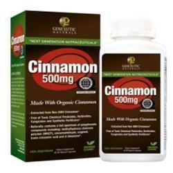 Cinnamon 500mg Supplements Genceutic Naturals  (10030973891)