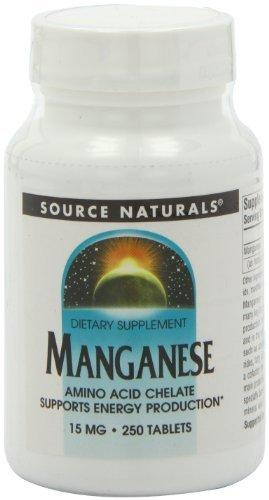 Manganese Chelate 15 mg Supplements Source Naturals  (10031786563)