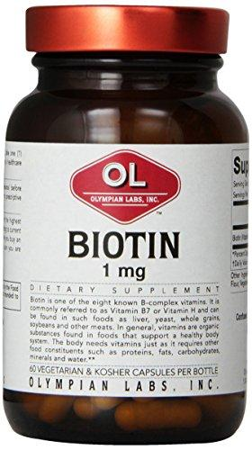 Biotin Vitamin H 1000 mcg Supplements Olympian Labs  (10031584131)
