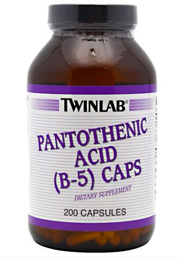 Pantothenic Acid (B-5) - 500 mg Vitamins & Minerals Twinlab  (10031902787)