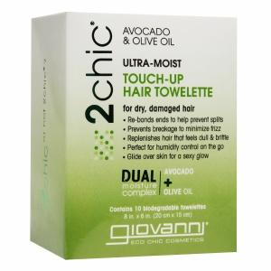 2Chic Ultra Moist Avocado & Olive Oil Touch-Up Hair Towelette Personal Care Giovanni Organic Cosmetics  (10030988419)