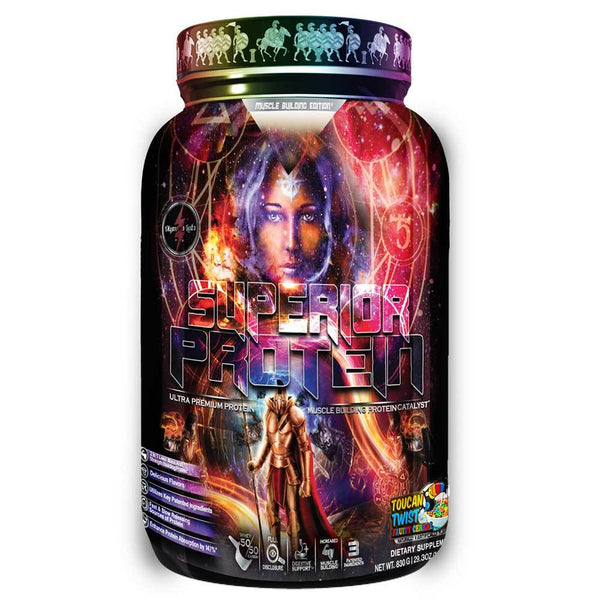 Superior Protein Muscle Building Edition 25 Servings Protein Powders Olympus Labs Toucan Twist  (1485623296023)