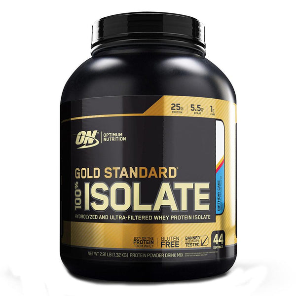 Optimum Nutrition Gold Standard 100% Isolate 44 Servings Protein Powders Optimum Nutrition Birthday Cake  (1583873982487)