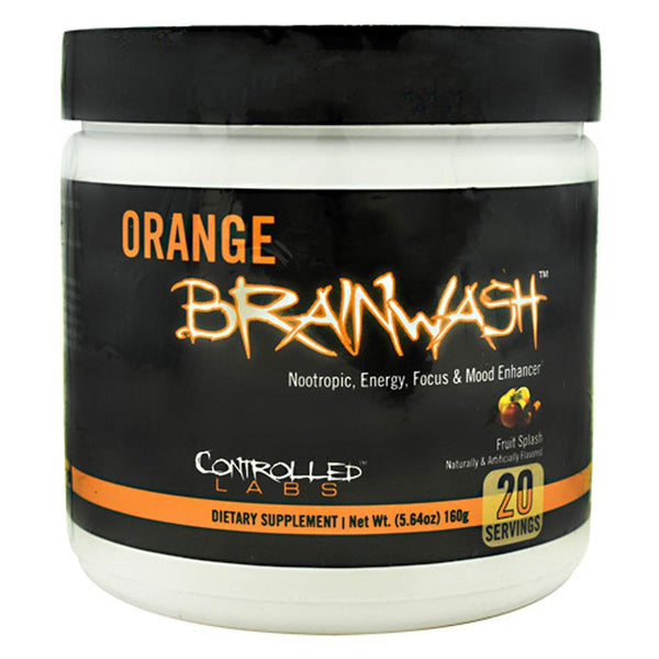Controlled Labs Orange BrainWash 20 Servings Specialty Health Products Controlled Labs Fruit Splash  (3882143219735)