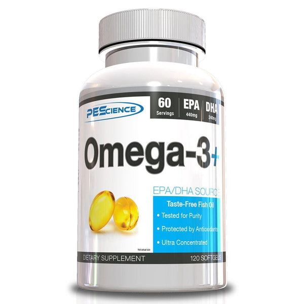 PEScience Omega 3+ 120 Soft Gels Essential Fatty Acids & - Oils PEScience  (3492048207895)