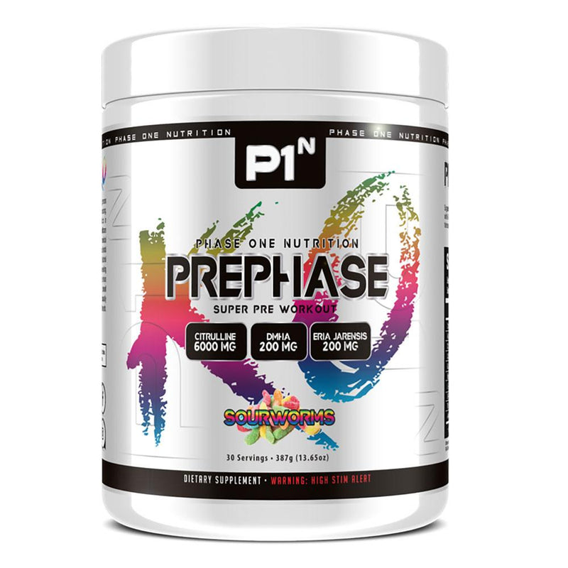 Phase One Nutrition PrePhase 30 Servings Pre-Workouts Phase One Nutrition Sour Worms  (4252738093079)