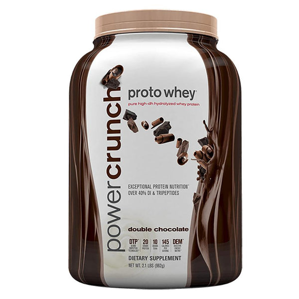 Power Crunch Proto Whey 2 lbs Protein Powders Bionutritional Research Group Double Chocolate  (1471175917591)