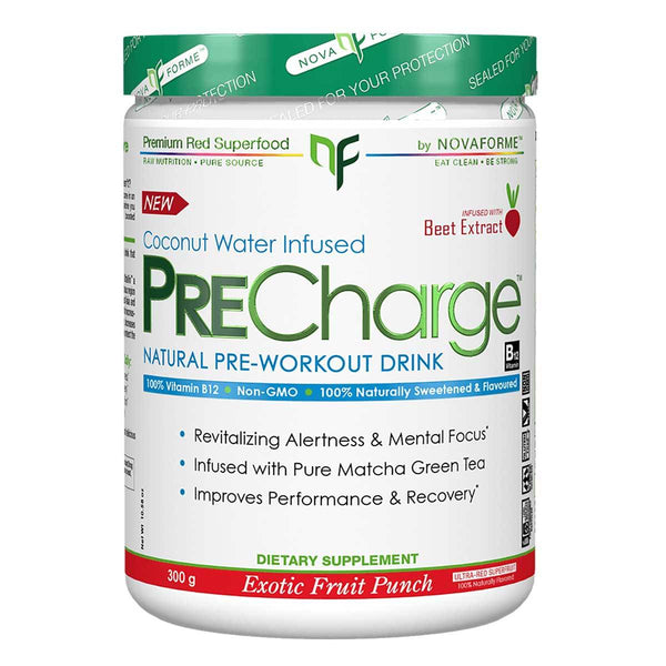 Novaforme PreCharge 30 Servings Exotic Fruit Punch 5/19 Expired Supplement Warehouse  (4199643709463)