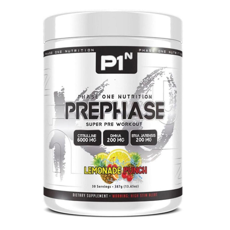 Phase One Nutrition PrePhase 30 Servings Pre-Workouts Phase One Nutrition Lemonade Punch  (4252738093079)