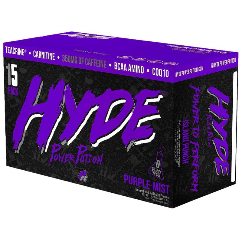 Pro Supps Hyde Power Potion 15/Cans Drinks Pro Supps PURPLE MIST  (1549283688471)