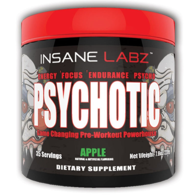 INSANE LABZ Psychotic 35 Servings Sports Performance Recovery Insane Labz Apple  (1569133363223)