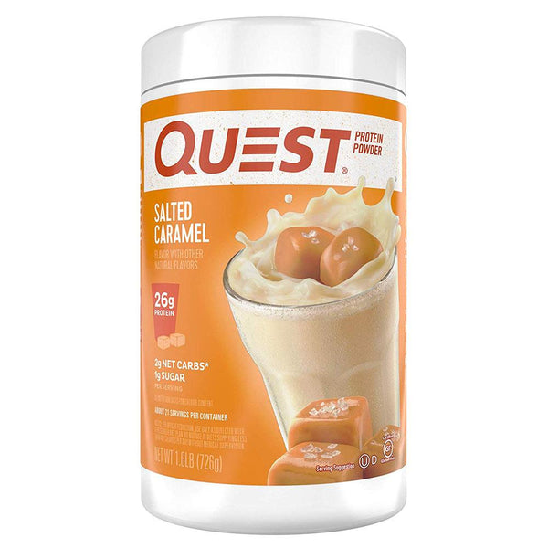 Quest Protein Powder 1.6lb Protein Powders Quest Nutrition Salted Caramel  (1569179107351)