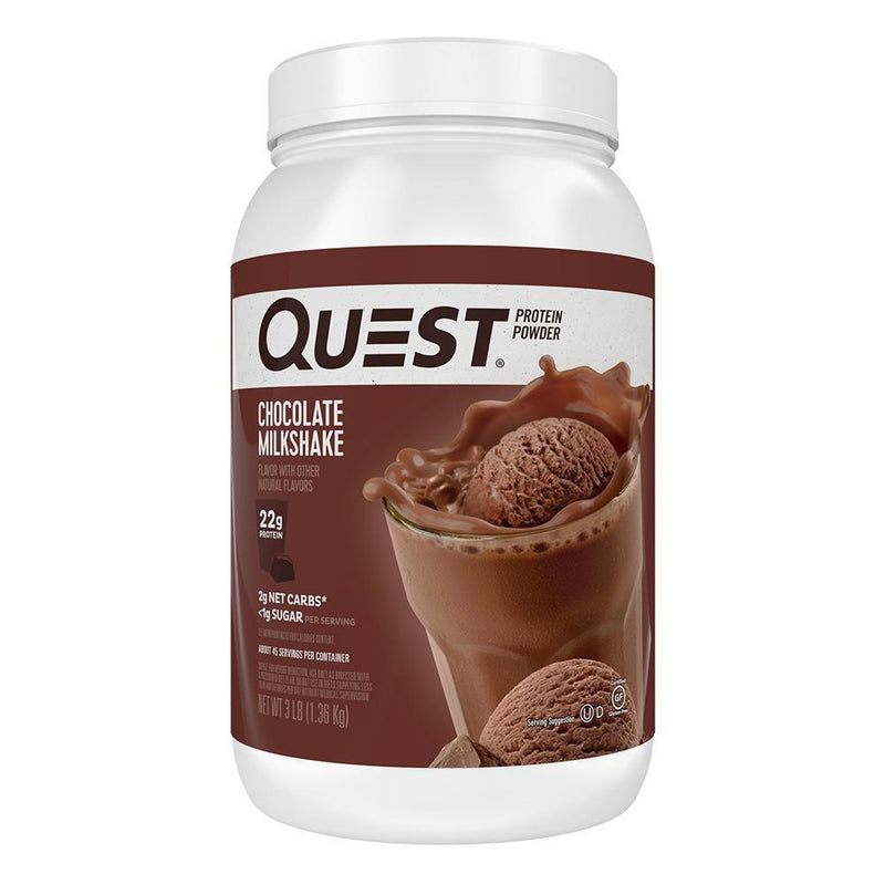 Quest Nutrition Protein Powder 3lb Protein Powders Quest Nutrition Chocolate Milkshake  (1569180680215)