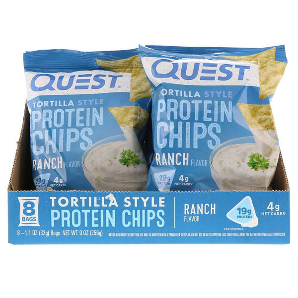 Quest Protein Tortilla Chips 8/Box Food & Snacks Quest Nutrition Ranch  (576081559585)
