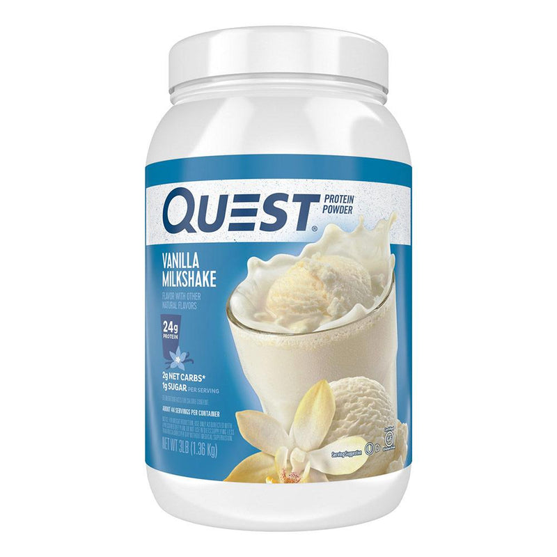 Quest Nutrition Protein Powder 3lb Protein Powders Quest Nutrition Vanilla Milkshake  (1569180680215)