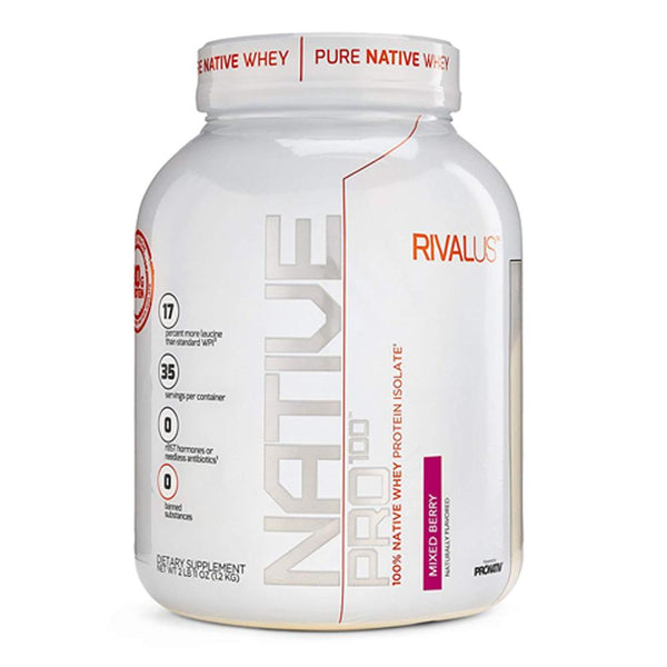 Rivalus Native Pro 100 2lbs Protein Powders Rivalus Mixed Berry  (1576773517335)