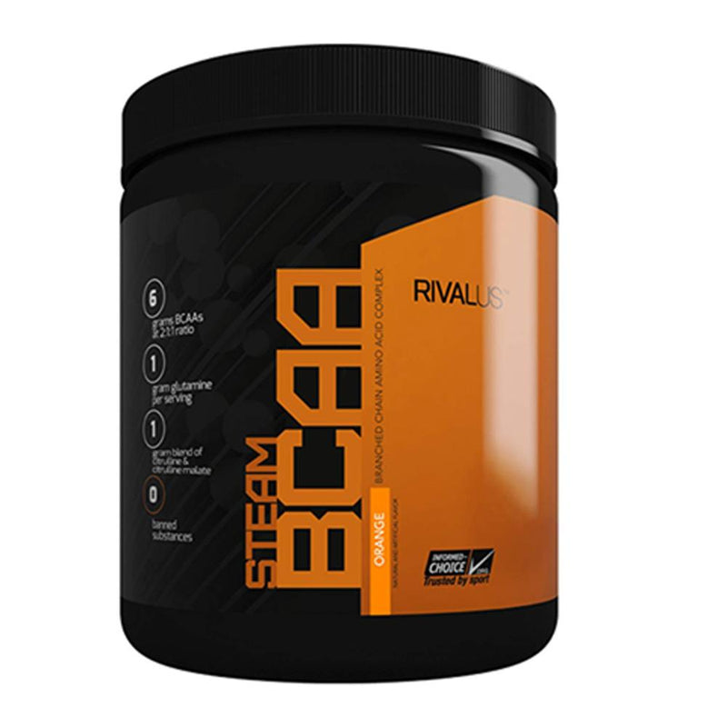Rivalus Steam BCAA 75 Servings Amino Acids Rivalus Orange  (1576768077847)