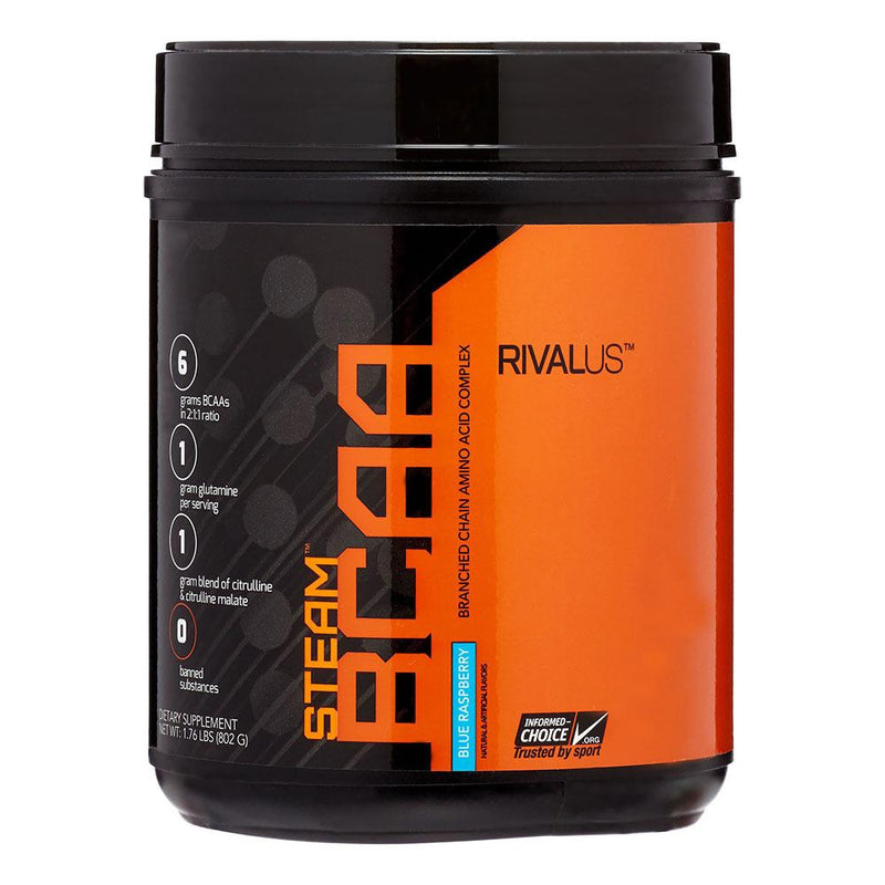 Rivalus Steam BCAA 75 Servings Amino Acids Rivalus Blue Raspberry  (1576768077847)