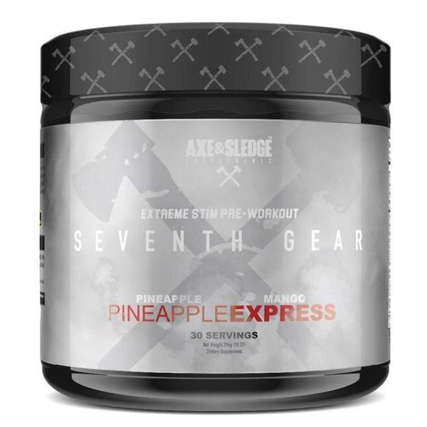 Axe & Sledge Seventh Gear 30 Servings Pre-Workouts AXE & SLEDGE Pineapple Express  (4170301308951)