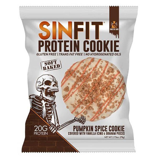 Sinfit Cookies 10/Box Food & Snacks/High Protein Snacks Sinister Labs Pumpkin Spice  (1444386635799)