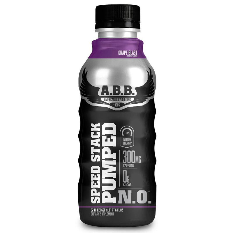 American BodyBuilding Speed Stack Pumped N.O. 12/CS Drinks American BodyBuilding Grape  (1471064702999)
