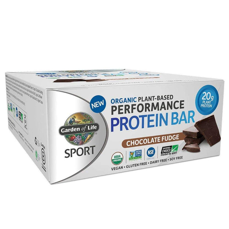 Plant-Based Protein Bar 12/Box Protein/Protein Bars Garden of Life Chocolate Fudge  (25147867139)