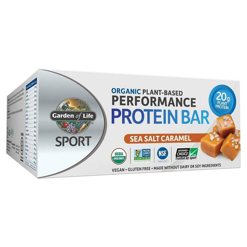 Plant-Based Protein Bar 12/Box Protein/Protein Bars Garden of Life Sea Salt Caramel  (25147867139)