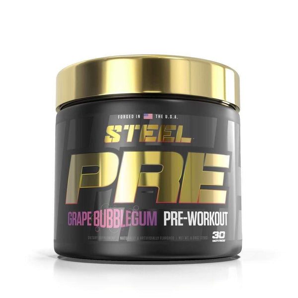 STEEL PRE 30 Servings Pre-Workouts STEEL Grape Bubblegum  (4163168075799)