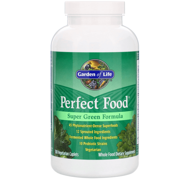 Garden of Life Perfect Food SuperGreens 300 Capsules 04/19 Expired Garden of Life  (4393621749783)
