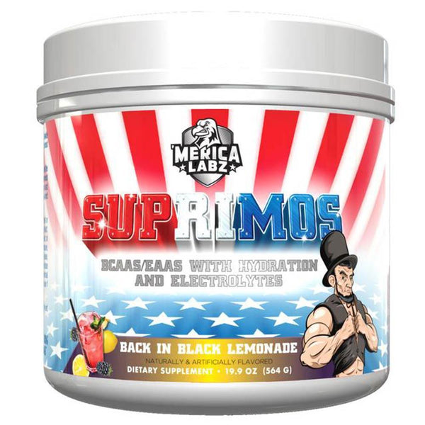 'Merica Labz Suprimos 30 Servings Amino Acids 'Merica Labz Back in Black Lemonade  (3508128546839)