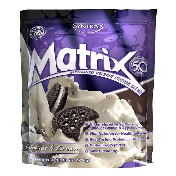 Syntrax Matrix 5lb Protein Cookies and Cream 8/19 Expired Syntrax  (4199643217943)