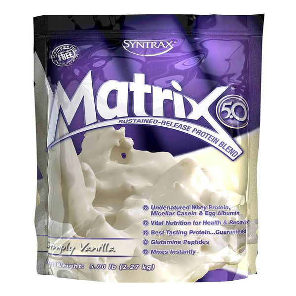 Syntrax Matrix 5lb Protein Simply Vanilla 5/19 Expired Syntrax  (4199645675543)