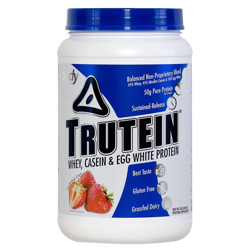 Body Nutrition Trutein 2 Lbs Protein/Protein Blends Body Nutrition Strawberries & Cream  (10944472387)
