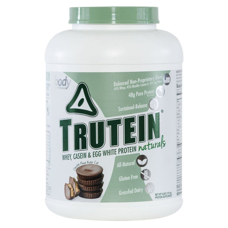 Body Nutrition Trutein Naturals 4 Lbs Protein/Protein Blends Body Nutrition Chocolate Peanut Butter Cup  (10944474563)