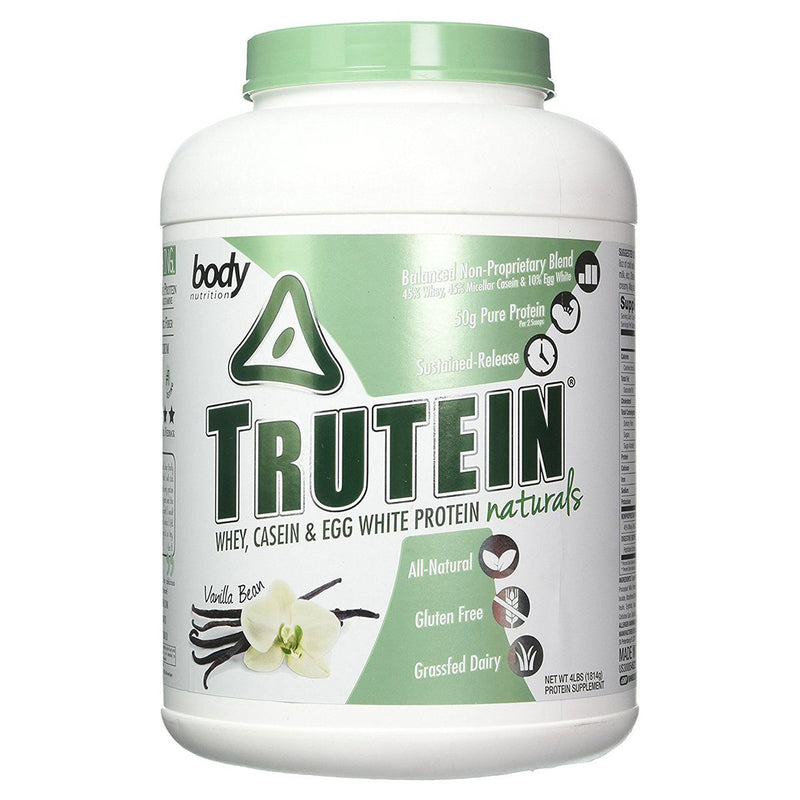Body Nutrition Trutein Naturals 4 Lbs Protein/Protein Blends Body Nutrition Vanilla Bean  (10944474563)