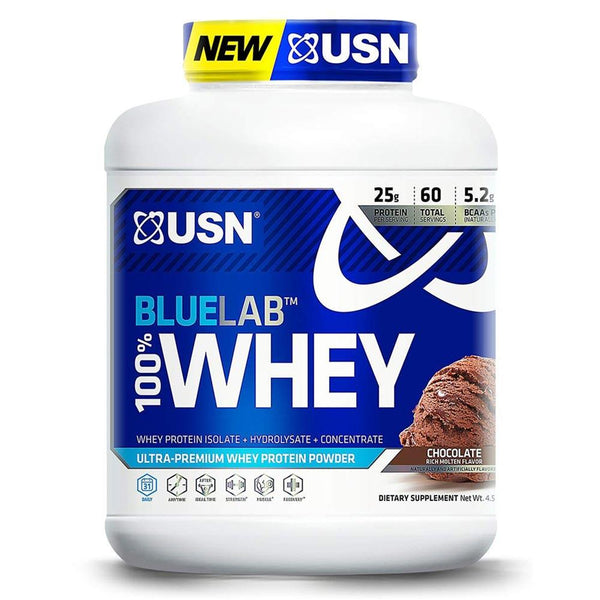 USN Blue Lab 100% Whey 4.5LB Protein Powders USN MOLTEN CHOCOLATE  (1481416343575)