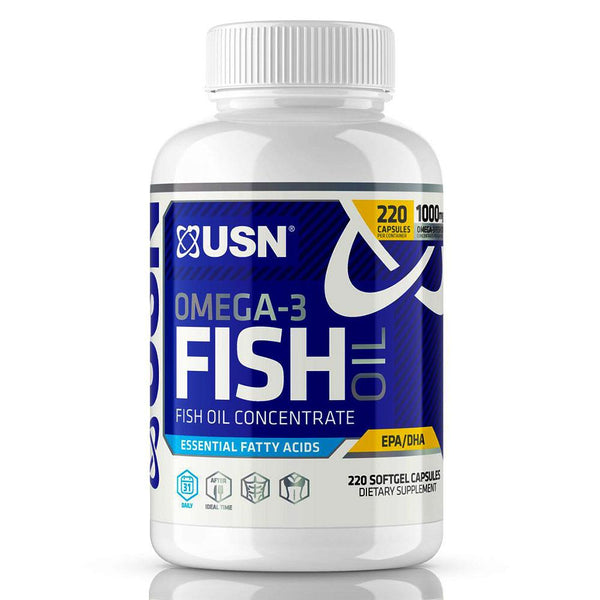 USN OMEGA-3 FISH OIL 220SG Essential Fatty Acids & - Oils USN  (1481402875927)
