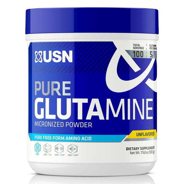 USN Pure Glutamine 100 SV Sports Performance & - Recovery USN  (1481412706327)