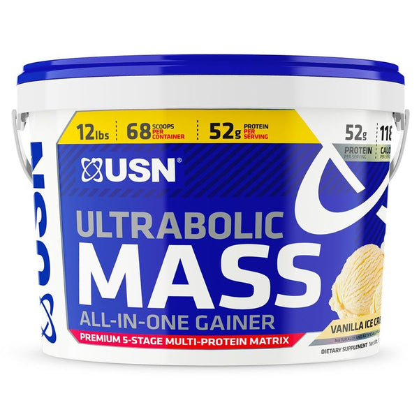 USN Ultrabolic Mass 12LBS Protein Powders USN VANILLA ICE CREAM  (1481415983127)