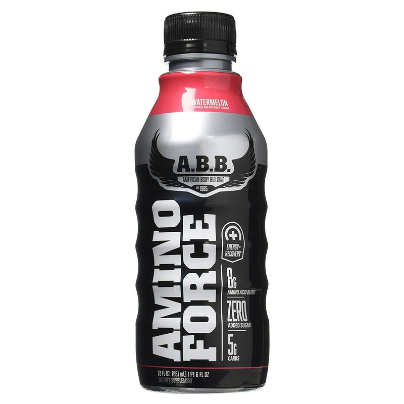 Amino Force 12/Case Energy & Sports Drinks ABB American BodyBuilding 12 - 22 Fl Oz Watermelon  (10028642435)