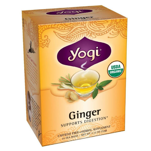 Yogi Ginger Tea 16 BAGS Teas Yogi  (3399126581271)