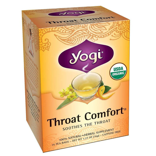 Yogi Throat Comfort 16BAGS Teas Yogi  (3399121666071)