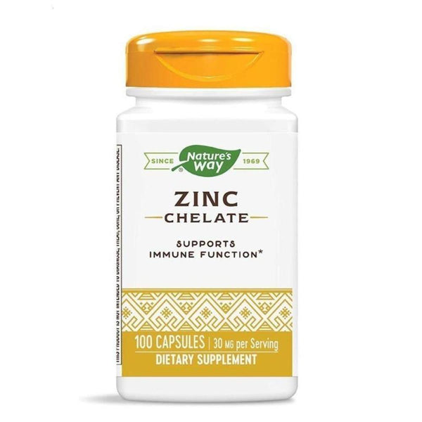 Nature's Way Zinc Chelate 30mg 100 Capsules Vitamins & Minerals Nature's Way  (4436178993175)